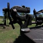 Piezas de museo en el parque